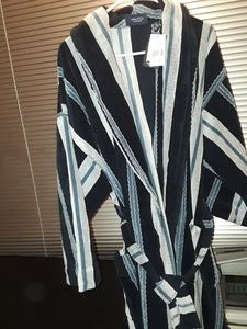 NWT- Nautica 100% Cotton Blue Robe Sleepwear